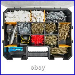 WrightFits Essential Tool Box Organiser Stackable Screw Storage Case Box 400